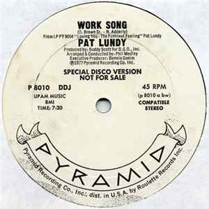 Album Pat Lundy - Work Song